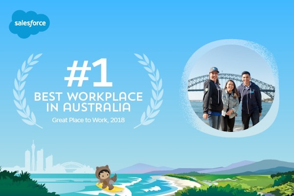 Salesforce named the #1 Best Place to Work in Australia
