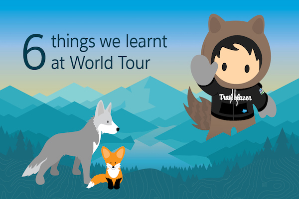 Infographic covering all the action of the Salesforce World Tour Sydney