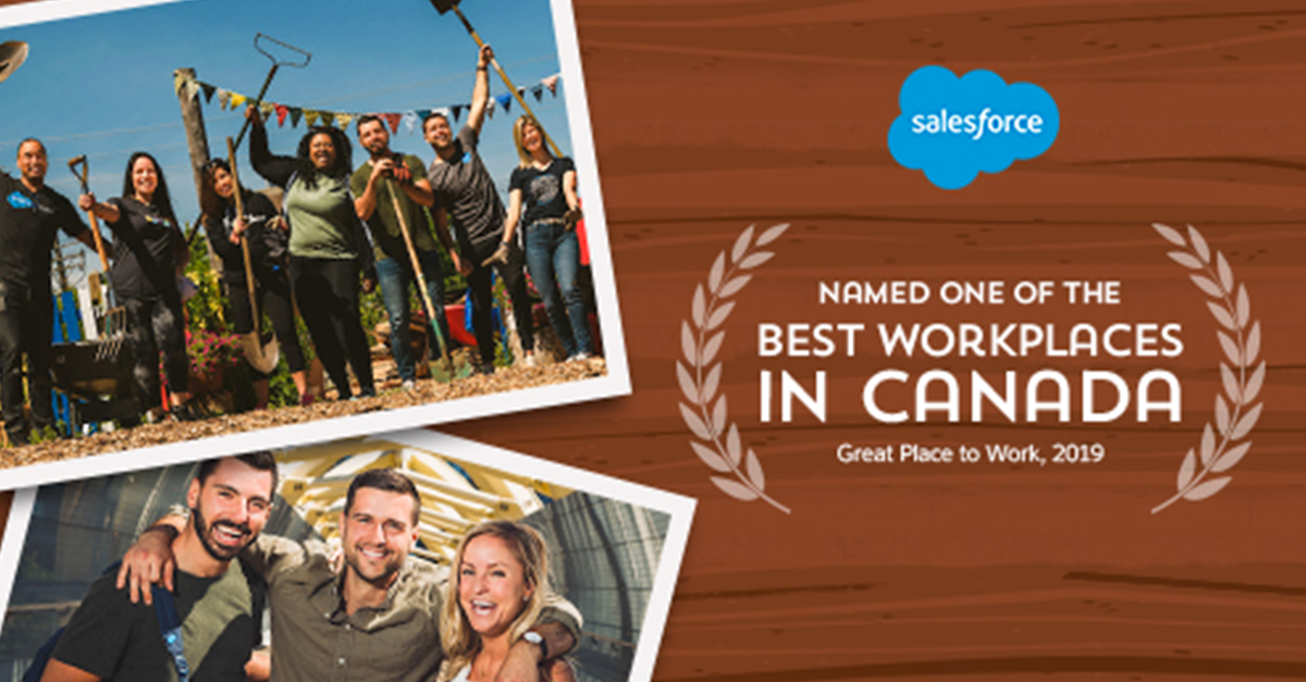 Salesforce Named One of the Best Workplaces in Canada
