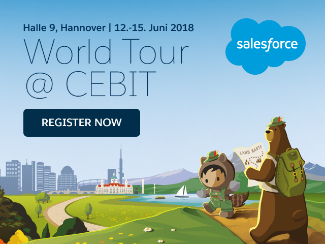 Trailblazer treffen sich in Halle 9: Das Trailblazer Camp auf der Salesforce World Tour @ CEBIT