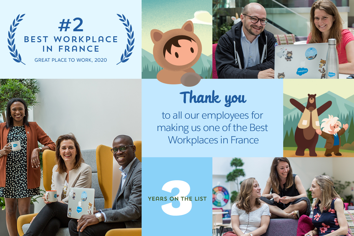 5 reasons that make Salesforce a Best Workplace in France!