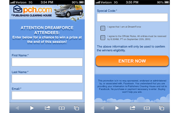 Finally Mobile Sweepstakes and Contests are a Reality - Salesforce Blog