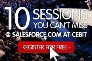 10 FREE Sessions You Can't Miss @ Salesforce.com at CeBIT