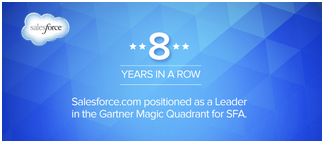 "Salesforce.com führt den ""Gartner Magic Quadrant for SFA 2014"" an"
