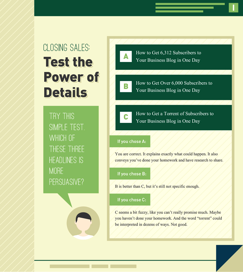 Closing Sales: Test the Power of Details