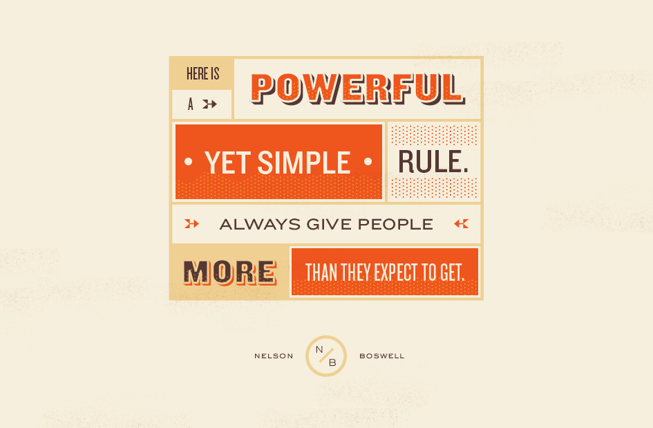 Give people more