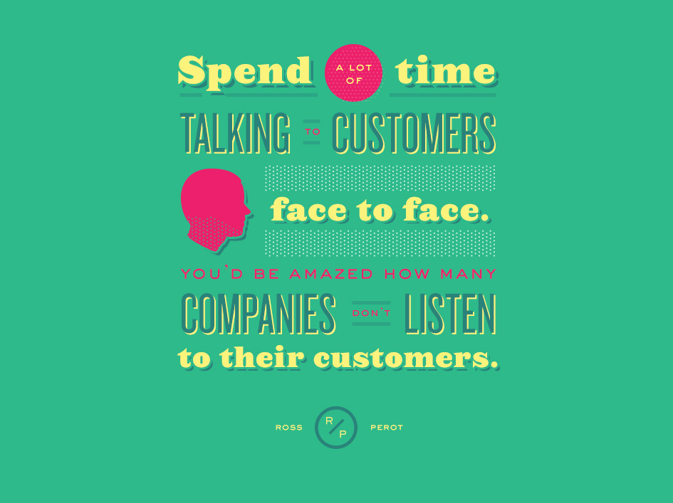 talk to customers face to face