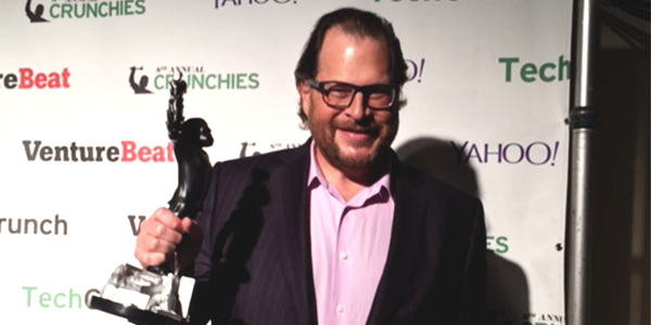 Marc Benioff Wins the 8th Annual Crunchies CEO of The Year Award!