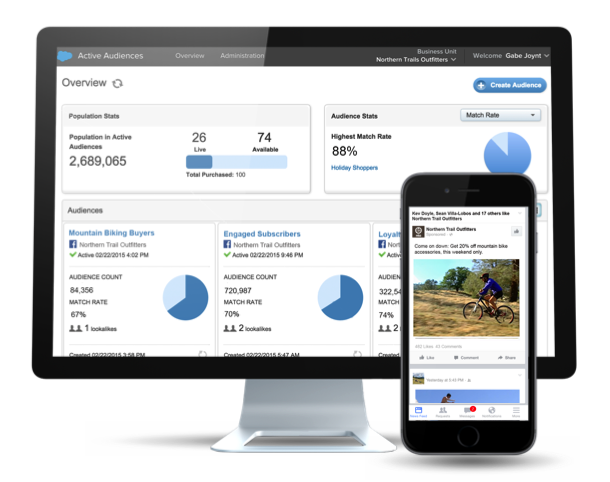 Advertise Based on a Single View of the Customer: Announcing Salesforce Marketing Cloud Active Audiences