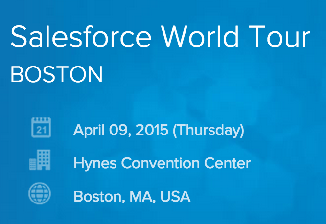 Salesforce World Tour Boston