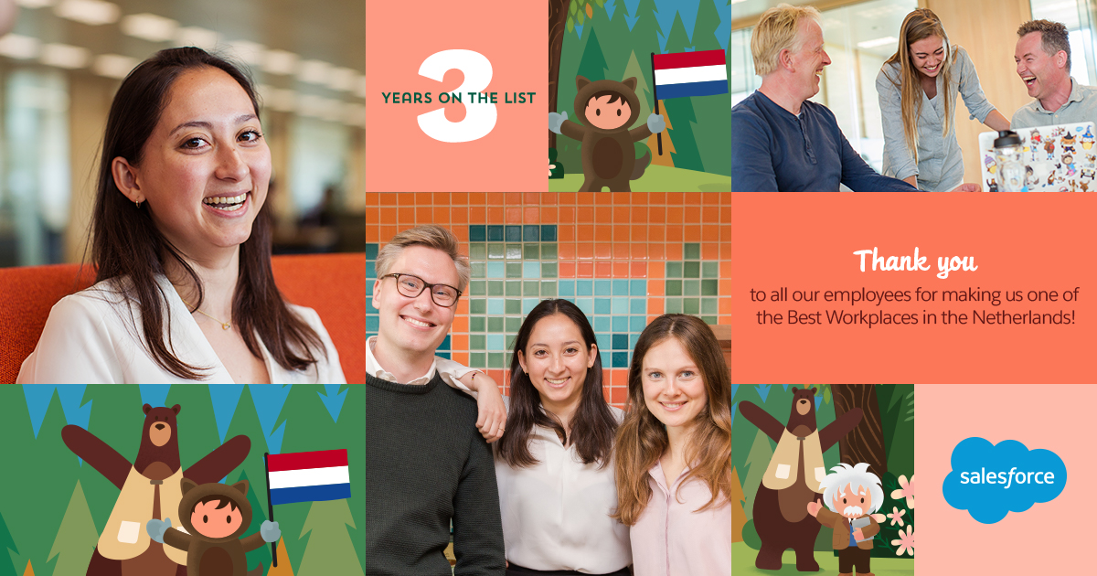 Salesforce is 2e op de lijst van Best Workplace in Nederland