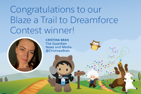 And the Blaze a Trail to Dreamforce Contest Winner Is...