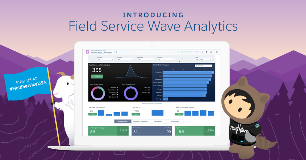 Salesforce @ Field Service USA 2017: Improving Every On-Site Experience with Field Service Wave Analytics