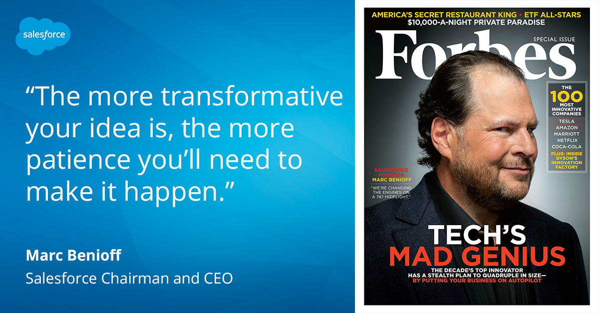 7 Lessons from Salesforce CEO Marc Benioff, the Decade's Top Innovator