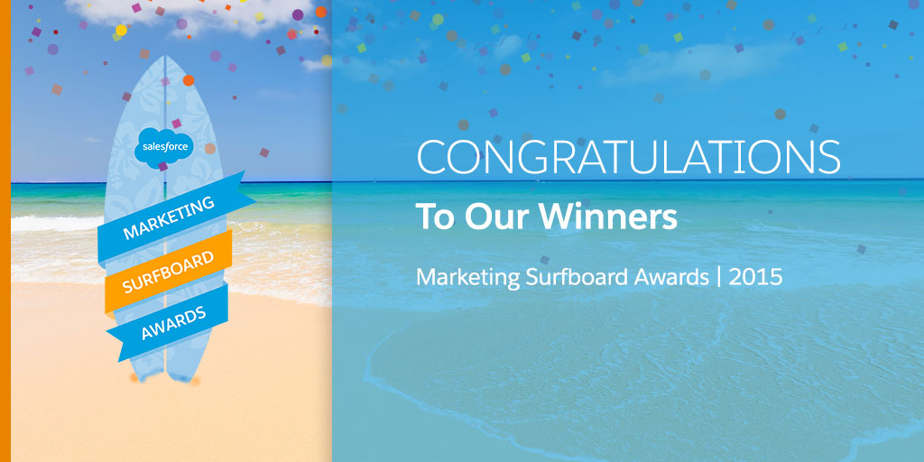 Announcing the 2015 Marketing Cloud Surfboard Award Winners