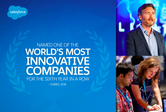 Forbes Lists Salesforce Among World's Most Innovative Companies for Sixth Year in a Row