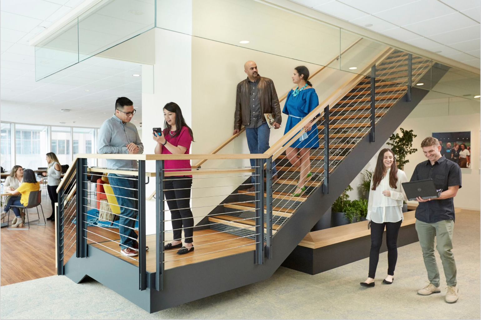 Every Three Floors Of Salesforce Tower Is Connected Into One Seamless  U201cvillage,u201d With Connecting Open Staircases That Let You Travel Between  Teams And ...