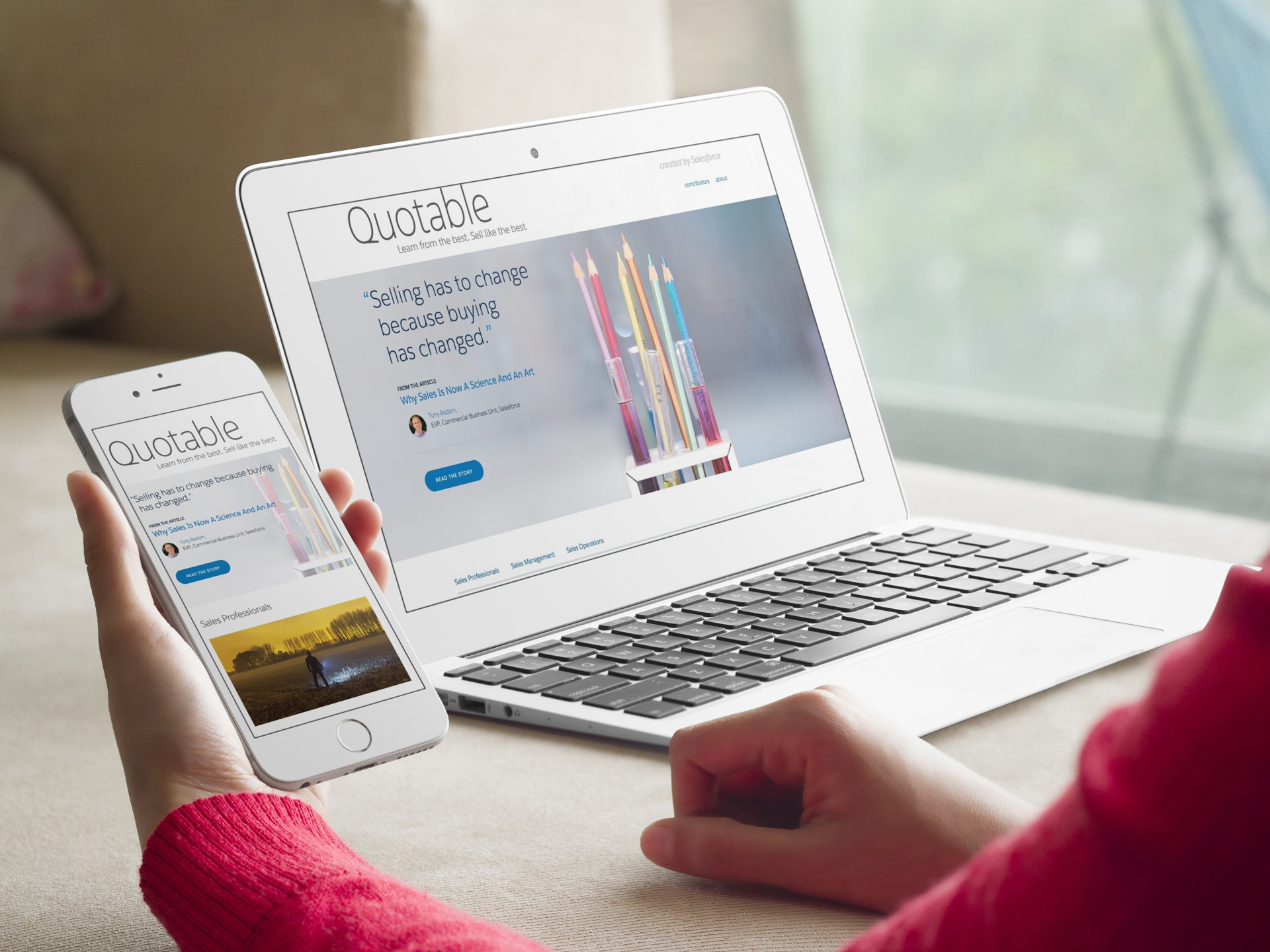 Introducing Quotable: Content for Salespeople, Created by Salesforce