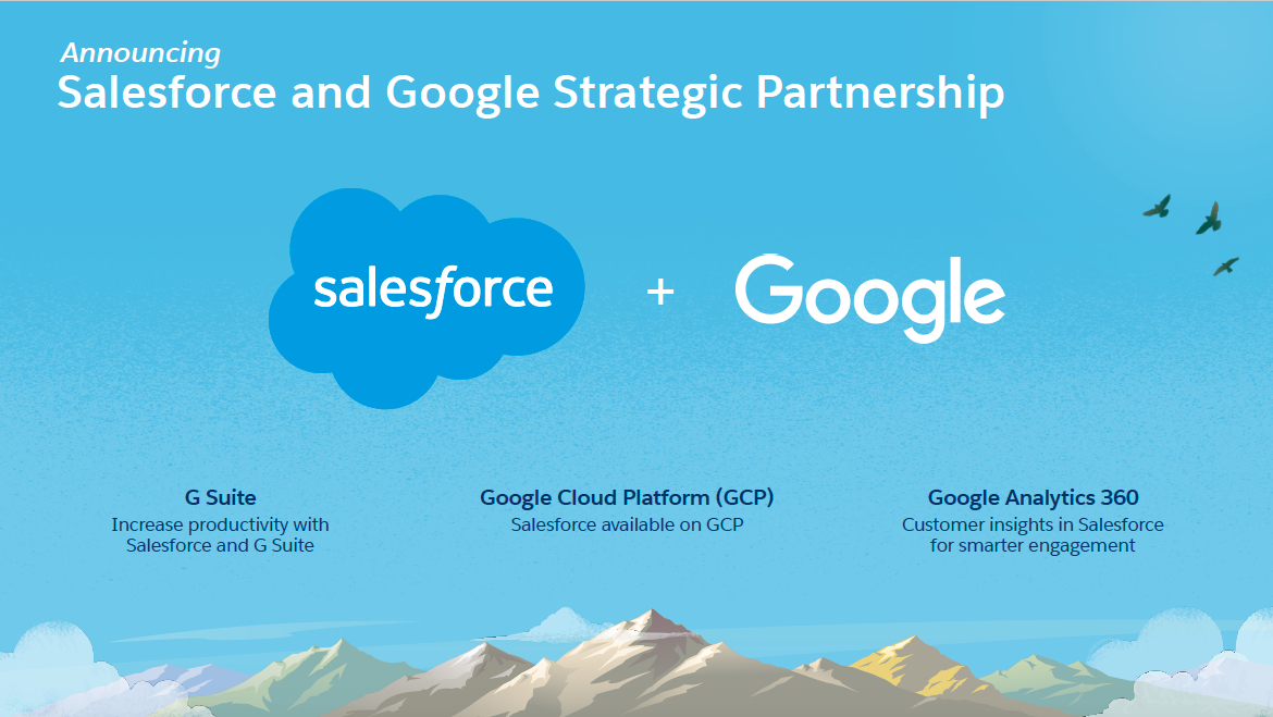 Salesforce and Google Form New Global Strategic Partnership