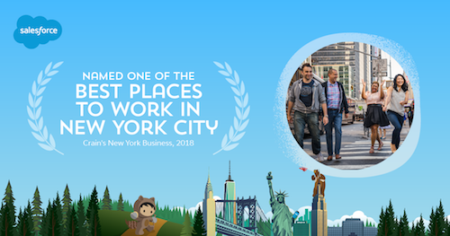 Crain's New York Business Names Salesforce One of the Best Places to Work