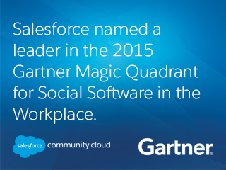 Community Cloud Named a Leader in 2015 Gartner Magic Quadrant for Social Software in the Workplace