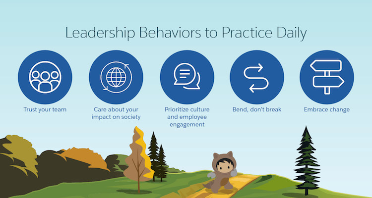 5 leadership behaviors to practice daily from Salesforce