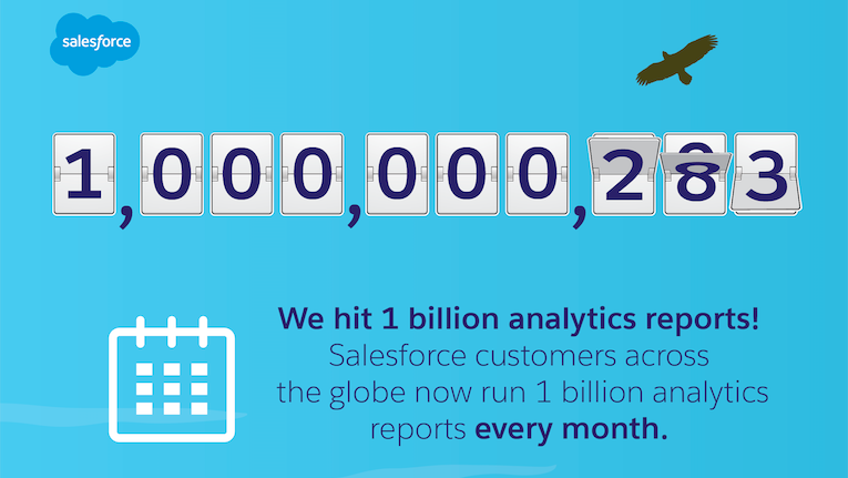 A Billion Reasons to Thank Our Trailblazers: You Now Run One Billion Analytics Reports Per Month!