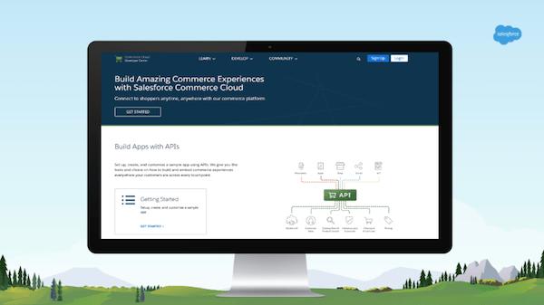 Commerce Cloud APIs screen