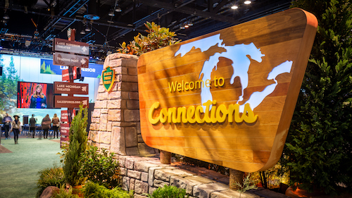 Photo of the main expo hall at Connections '19
