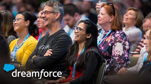 Photo of Dreamforce attendees