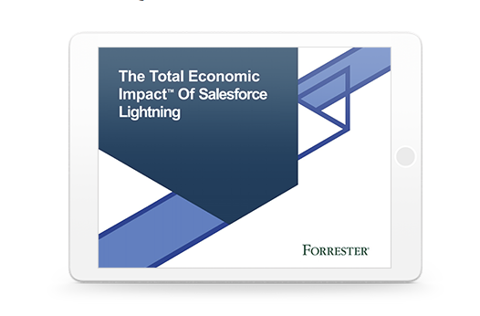 Forrester T.E.I. Study Shows Customers get 341% ROI when Moving to Lightning Experience