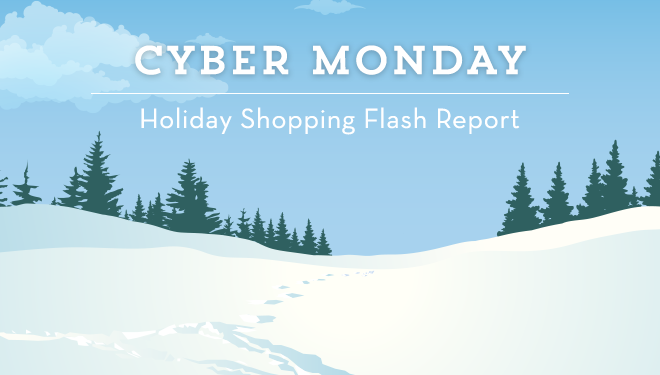 Holiday Shopping Flash Report Cyber Monday Sales Up 15 Still