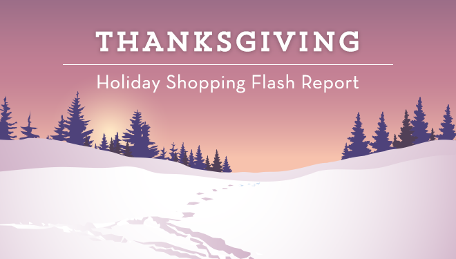 Holiday Shopping Flash Report: Mobile Wins; Thanksgiving Day Revenue Up 29%
