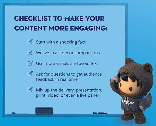 Sales kickoff content checklist