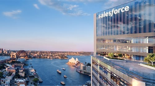 Photo rendering of the new Salesforce Tower Sydney