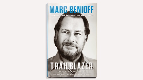 Photo of Marc Benioff's new book