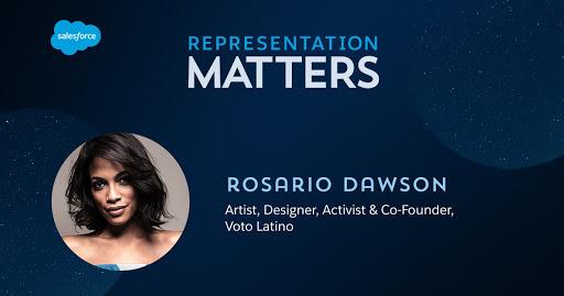 Representation Matters: Rosario Dawson artist, designer, co-founder Voto Latino