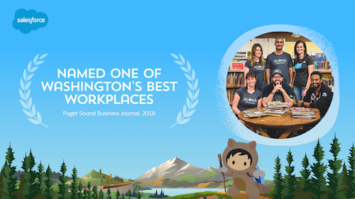 Salesforce Bellevue Debuts As One Of Washington's Best Workplaces!