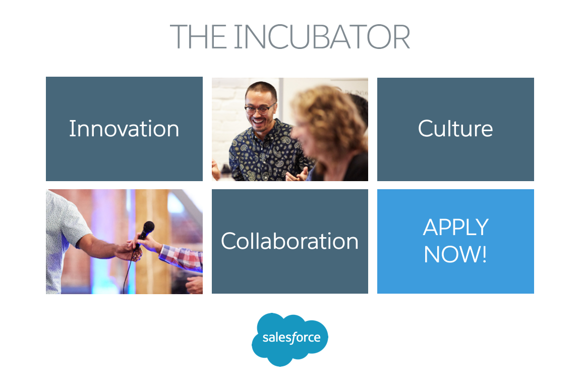 Salesforce Incubator Now Accepting Applications for the Summer 2017 Session: Bringing Artificial Intelligence to Business Apps