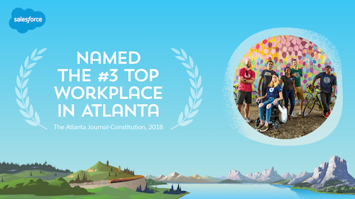 Salesforce is One Of the Top Workplaces in Atlanta — for The Fourth Year in a Row