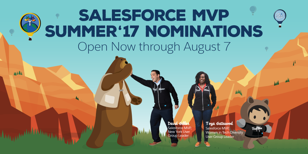 All About the Salesforce MVP Program: Summer '17 Nominations open NOW