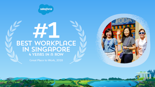 Salesforce Named the #1 Best Place to Work in Singapore