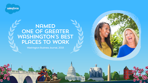 Salesforce Recognized as One of the Best Places to Work in Greater Washington