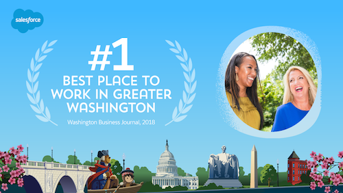 Salesforce Recognized as the #1 Best Place to Work in Greater Washington