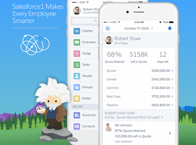 The Salesforce1 Mobile App Brings Real-Time Forecasting to Sales Teams on the Go!