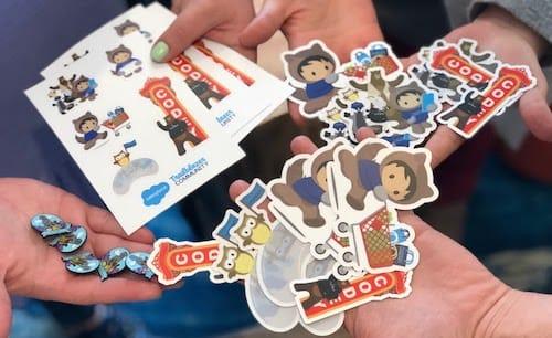 Salesforce S Growing Sticker Addiction Plus The Rarest Of