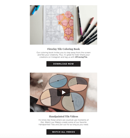 Fireclay Tile coloring book and videos