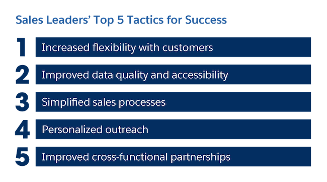 Sales leader's top 5 tactics for success