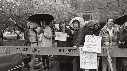 Marsha P. Johnson (Left) and Sylvia Rivera (Right), Gay Pride Parade, New York City, 1973 Photo by Leonard Fink, Courtesy LGBT Community Center National History Archive