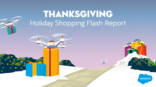 Thanksgiving Holiday Flash Report: Shoppers Go Online Early, Go Mobile, Go Social as Digital Revenue Grows 18%